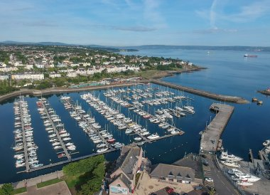Drone over Bangor Marina,Bangor Northern Ireland