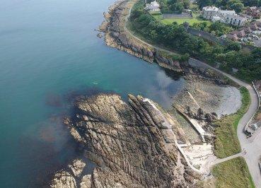 Half Castle, North Down Coastal Path. Bangor to Strickland's Glen. Northern Ireland