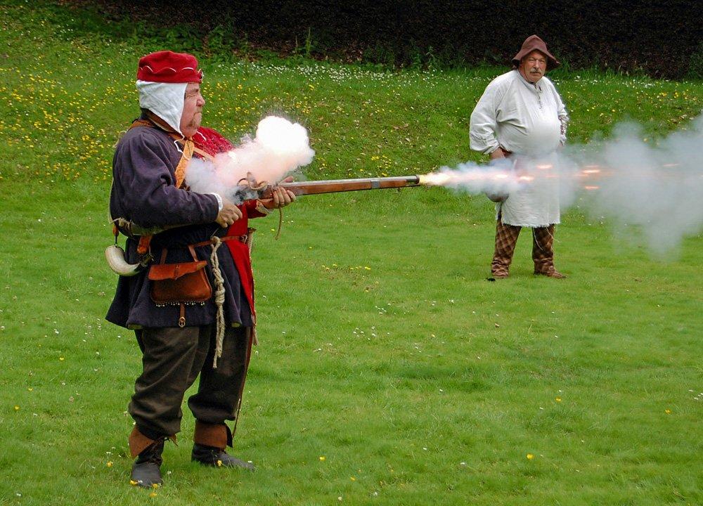 Excise Men Guns, North Down Bangor Museum in Northern Ireland