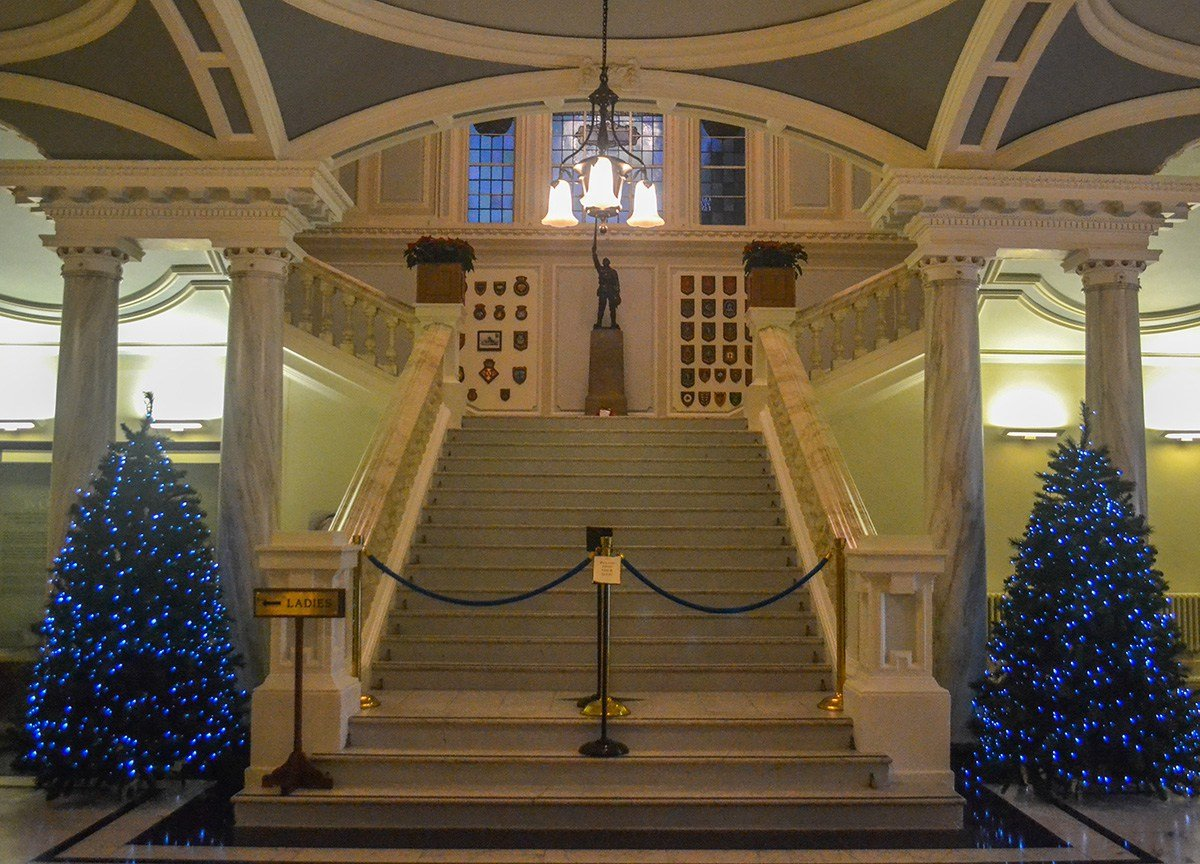 Inside Belfast City Hall, Belfast Christmas Market at City Hall Northern Ireland