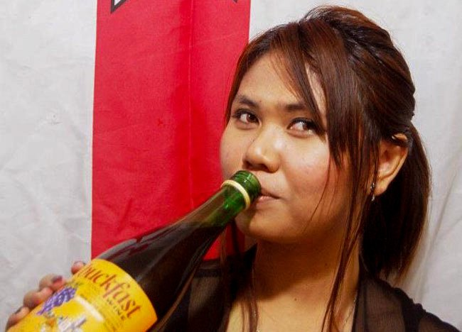 Fanfan Wilson Drinking Buckfast, Traditional Northern Ireland Food and Drink