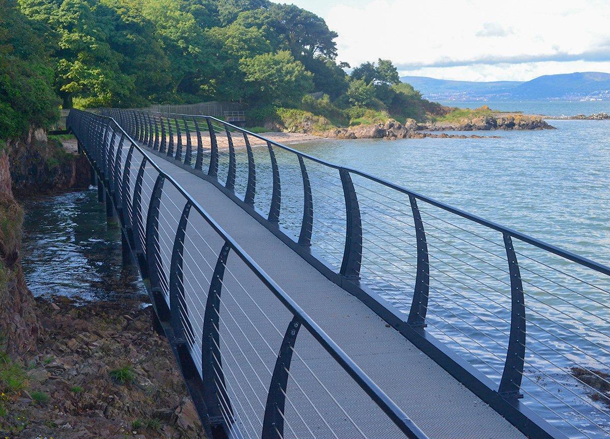 Metal Bridge at Seahill, North Down Coastal Path Bangor to Holywood