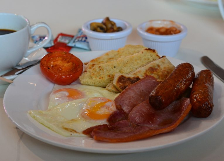 Breakfast Ulster Fry, Traditional Northern Irish Food in Bangor