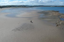 Empty Sand Beach, Bangor to Groomsport, North Down Coastal Path. Northern Ireland