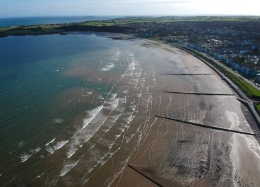 Ballyholme Beach, Bangor to Groomsport, North Down Coastal Path. Northern Ireland