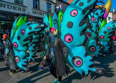 Main Street Parade, Saint Patricks Day Parade in Downpatrick Northern Ireland