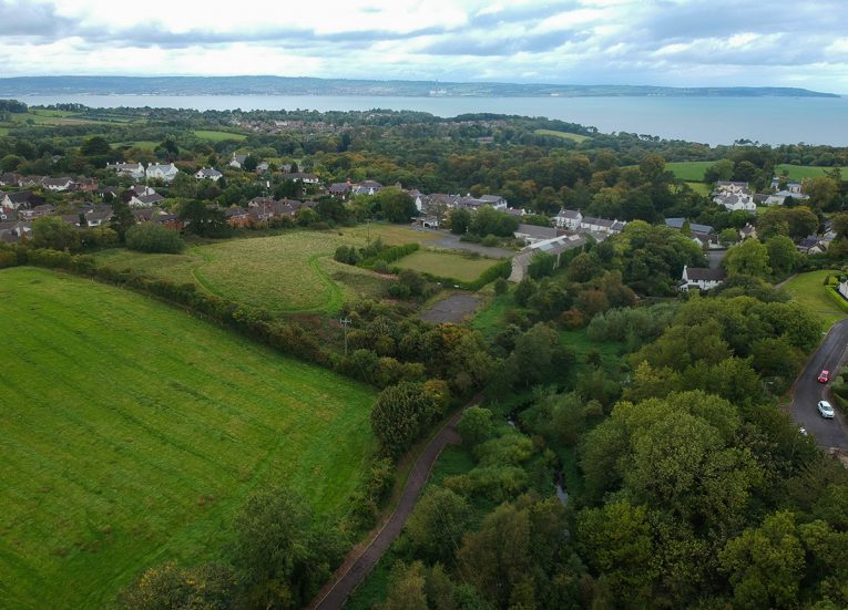 Crawfordsburn from Above at Cootehall Park in Bangor Northern Ireland