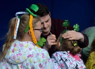 Face Painting, Saint Patricks Day Parade in Downpatrick Northern Ireland