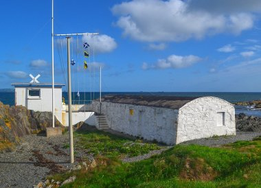 Seacliff Boat House, Bangor to Groomsport, North Down Coastal Path. Northern Ireland