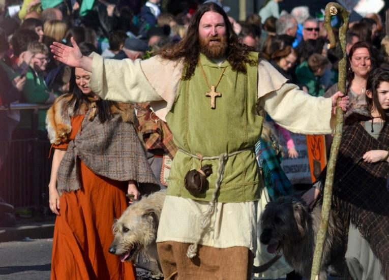 Saint Patrick Costume, Saint Patricks Day Parade in Downpatrick Northern Ireland