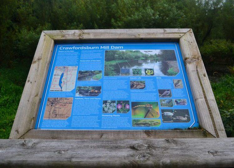 Crawfordsburn Glen Information Boards at Cootehall Park Crawfordsburn Bangor NI