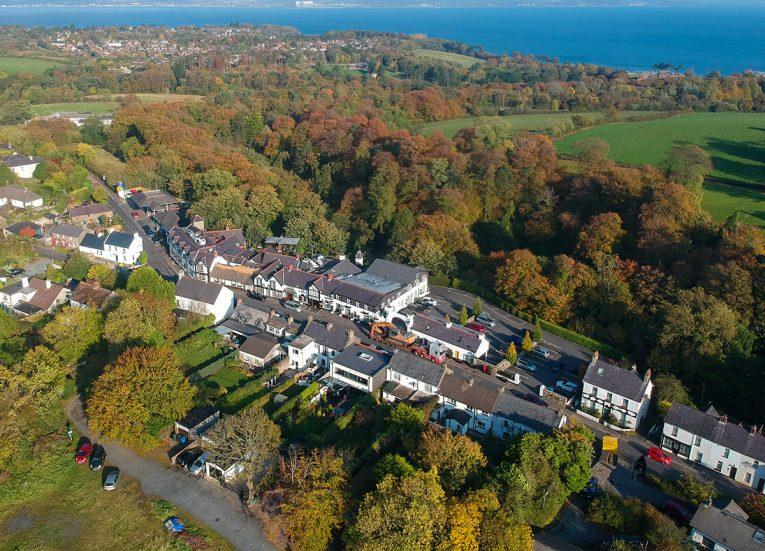 Drone Footage of Old Inn Crawfordsburn Hotel, Bangor NI