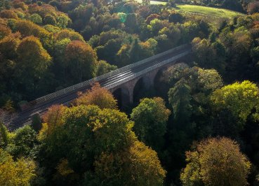 Viaduct Bridge, Autumn Crawfordsburn Country Park Bangor Northern Ireland