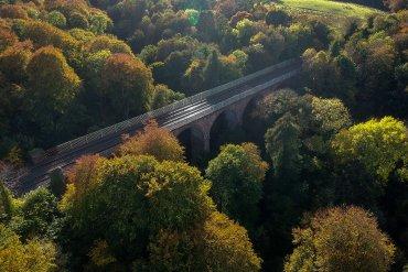 Viaduct Bridge, Autumn Crawfordsburn Country Park Bangor Northern Ireland