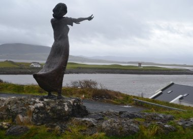 Waiting on the Shore Statue, Wild Atlantic Way Road Trip West Coast of Ireland