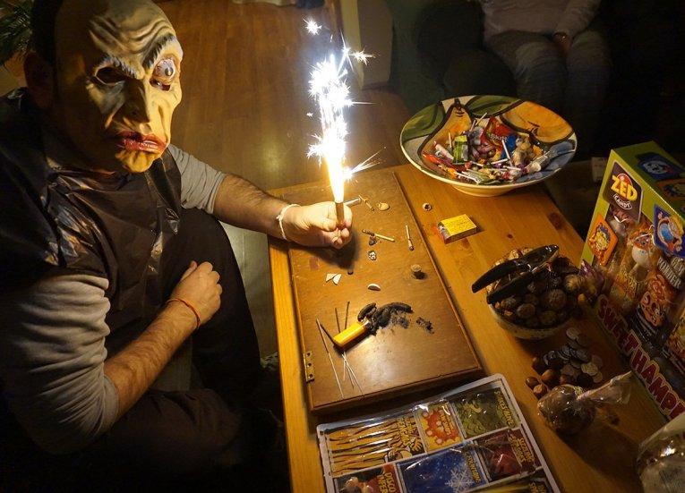 Indoor Fireworks Traditional Halloween in Northern Ireland Bangor NI (7)