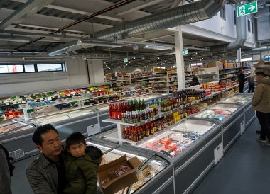 Frozen Food Aisles, New Asian Supermarket Belfast 40 Ormeau Embankment