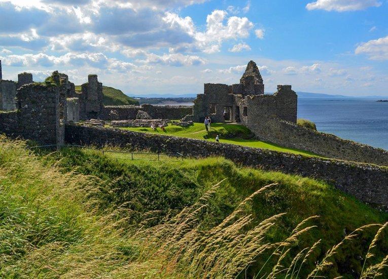 Dunluce Castle along GIants Causeway Coastal Route Tourist Attractions