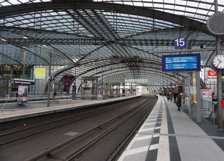 Berlin Central Station, Interrail in Winter Train Travel in Europe