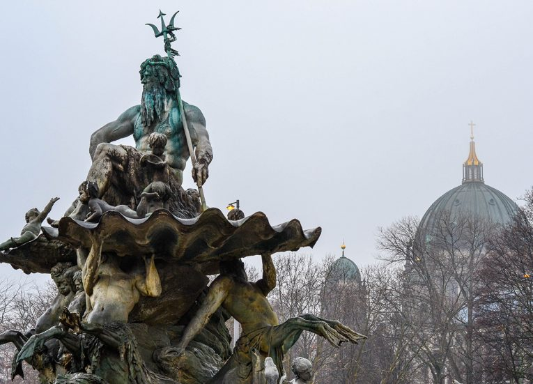 Neptune Fountain in Berlin, Interrail in Winter: Train Travel in Europe Itinerary