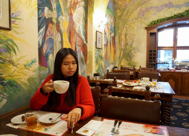 Hotel U Krále Karla Breakfast, Train Travel on Interrail in Winter in Europe