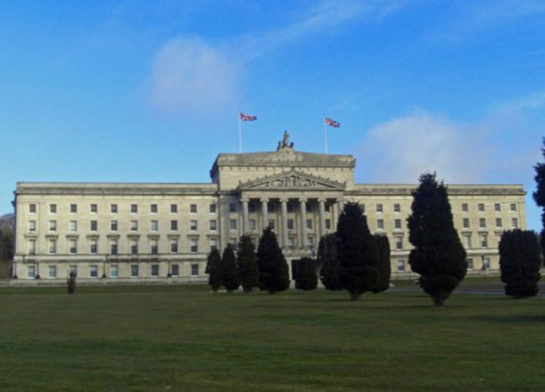 Stormont Estate and Parliament Buildings in Belfast Northern Ireland