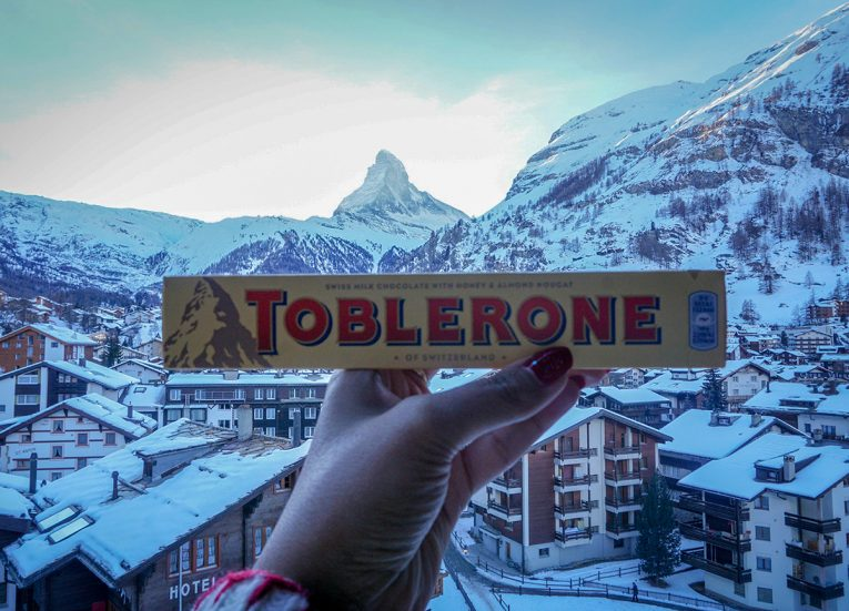 Toblerone at Matterhorn, Interrail in Winter: Train Travel in Europe Itinerary