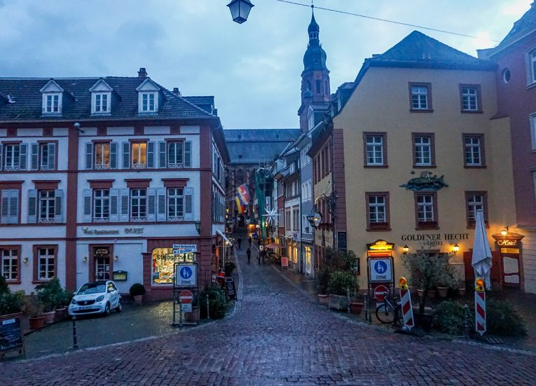 Heidelberg Town Square, Interrail in Winter: Train Travel in Europe Itinerary