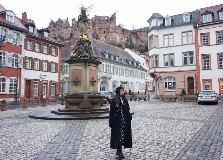 Heidelberg Town Square Germany, Interrail in Winter: Train Travel in Europe Itinerary