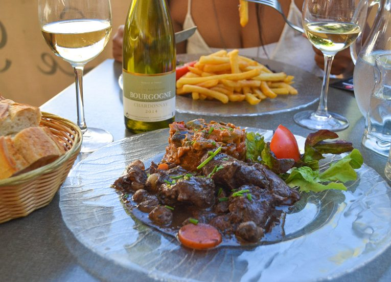 Beef Bourguignon in Beaune Burgundy France Europe