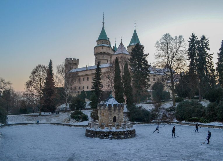 Castle Park in Bojnice-Slovakia-Winter-Road-Trip-in-East-Central-Europe