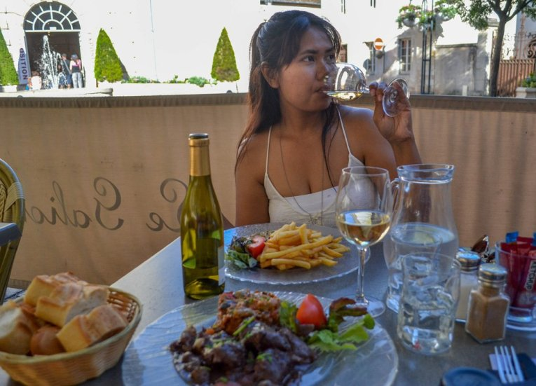 Fanfan with Burgundy Wine and Beef Bourgignon in Beaune Burgundy France