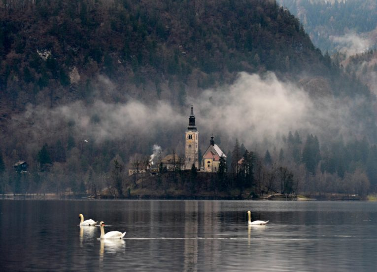 Lake Bled on a Winter-Road-Trip Itinerary in-East-Central-Europe