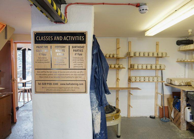 Pottery Classes at Loaf Bakery Cafe in Crawfordsburn Village Bangor NI