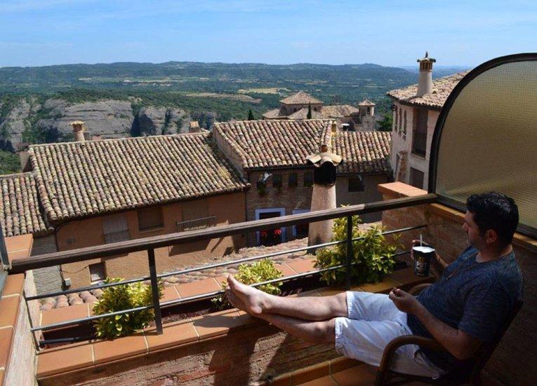 Bedroom Views Hotel Villa de Alquezar Huesca Northern Spain