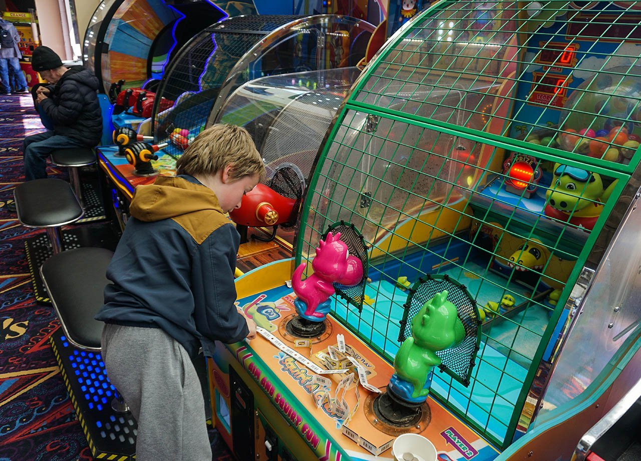 Games and Arcades at M&D Theme Park Stena Line Day Tour to Scotland