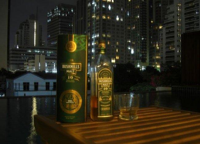 Bushmills Whisky in Bangkok by Northern Irish Travel Blogger