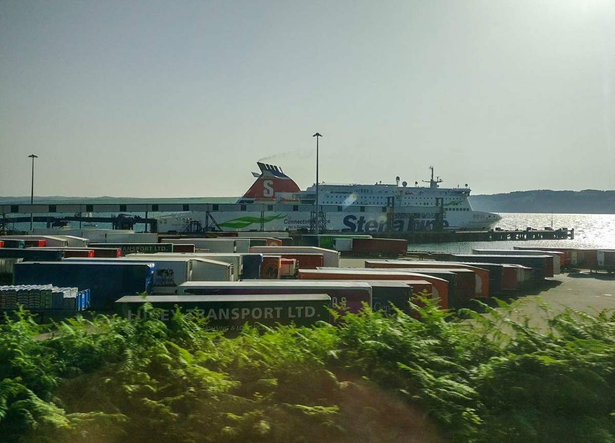 Cairnryan Harbour Ferry Terminal in Scotland