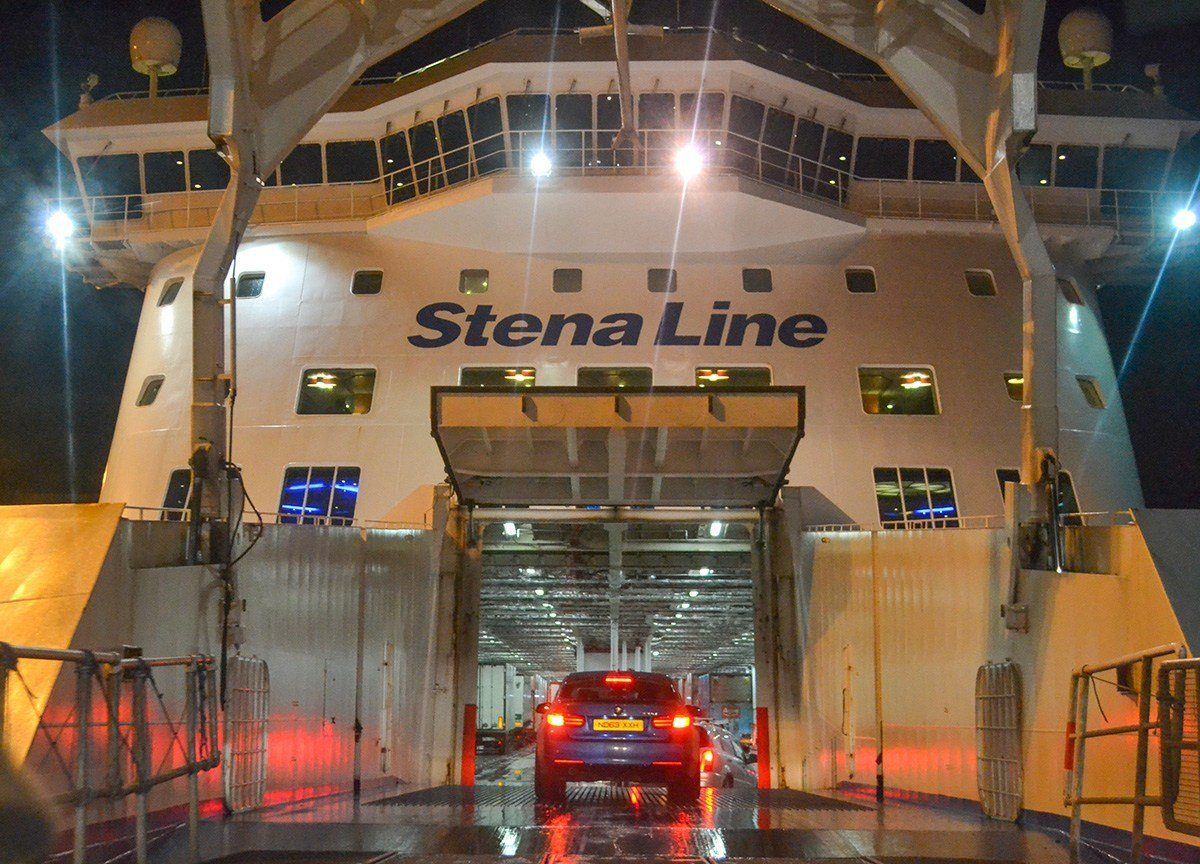 Stena Line Ferry from Belfast to Cairnryan by Boat. Ireland to Scotland Crossing.