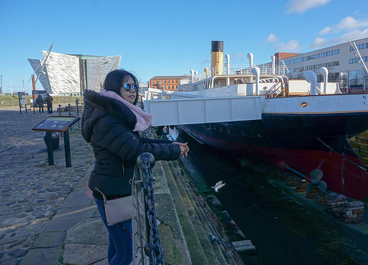 Fanfan Wilson at SS Nomadic in Titanic Quarter Belfast