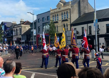 Loyalist Flags 12th July Parades in Bangor Northern Ireland