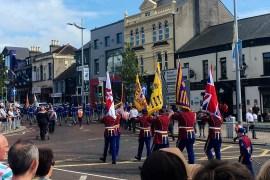Loyalist Flags 12th July Parades in Bangor Northern Ireland