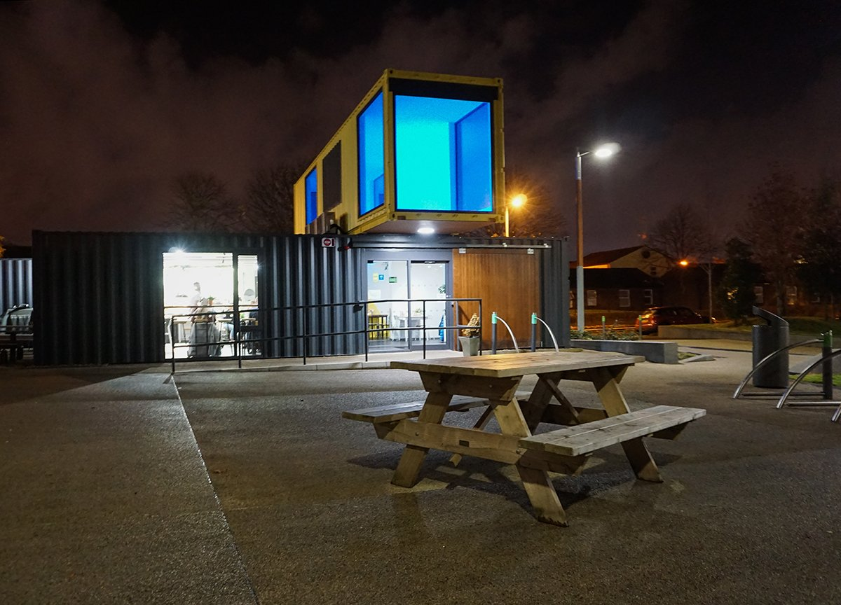 Shipping Container Restaurant Freight Restaurant CS Lewis Square East Belfast
