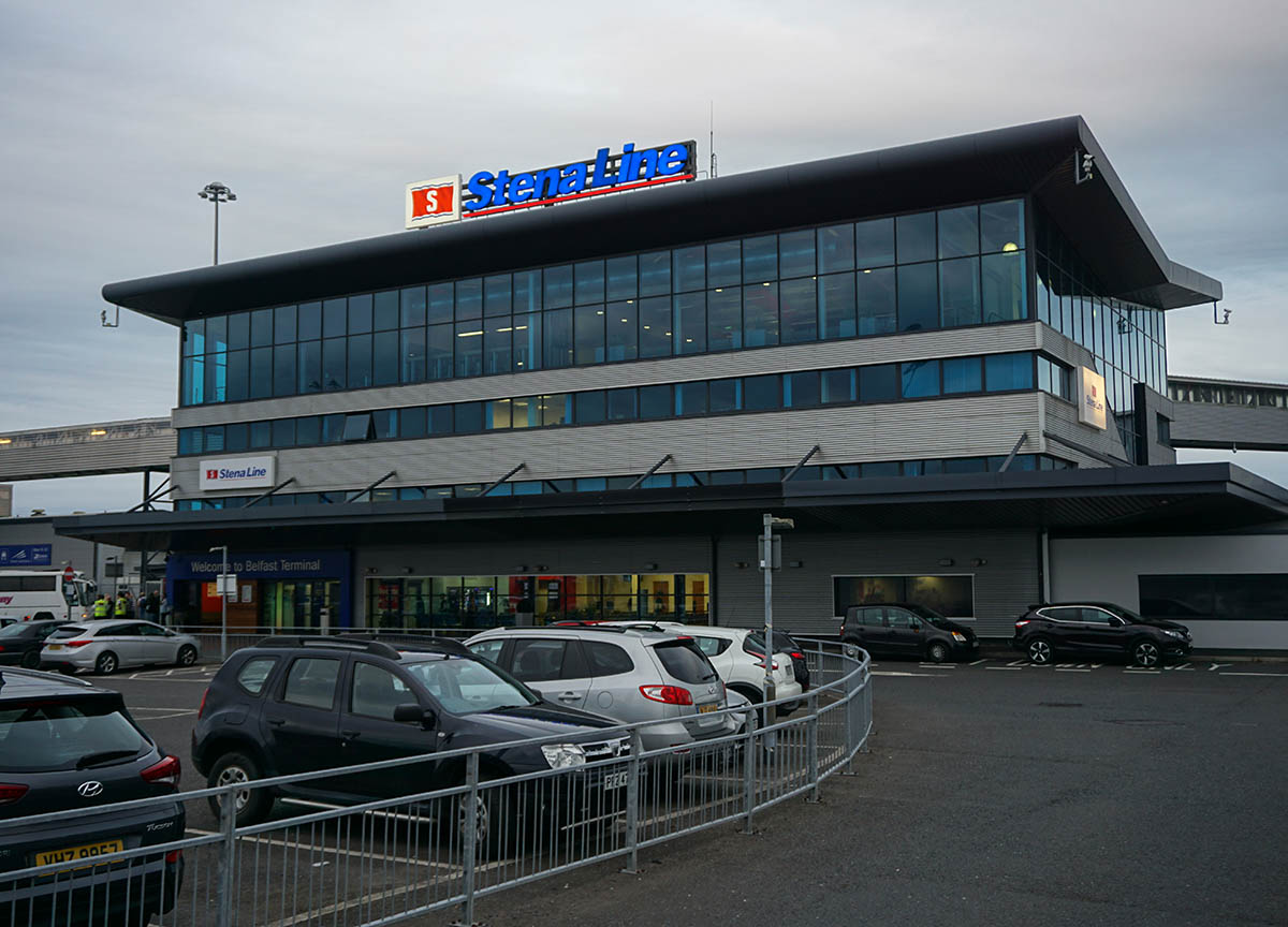 Stena Line Ferry Port in Belfast Northern Ireland (Victoria Terminal 4)