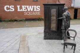 The Wardrobe Scultpure CS Lewis Square Belfast Northern Ireland