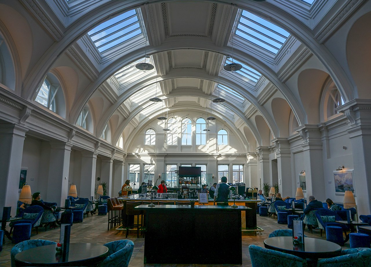 Titanic Drawing Room Cafe Bar and Restaurant at Titianic Hotel Belfast Northern Ireland
