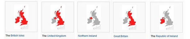 United Kingdom of Great Britain and Northern Ireland Map