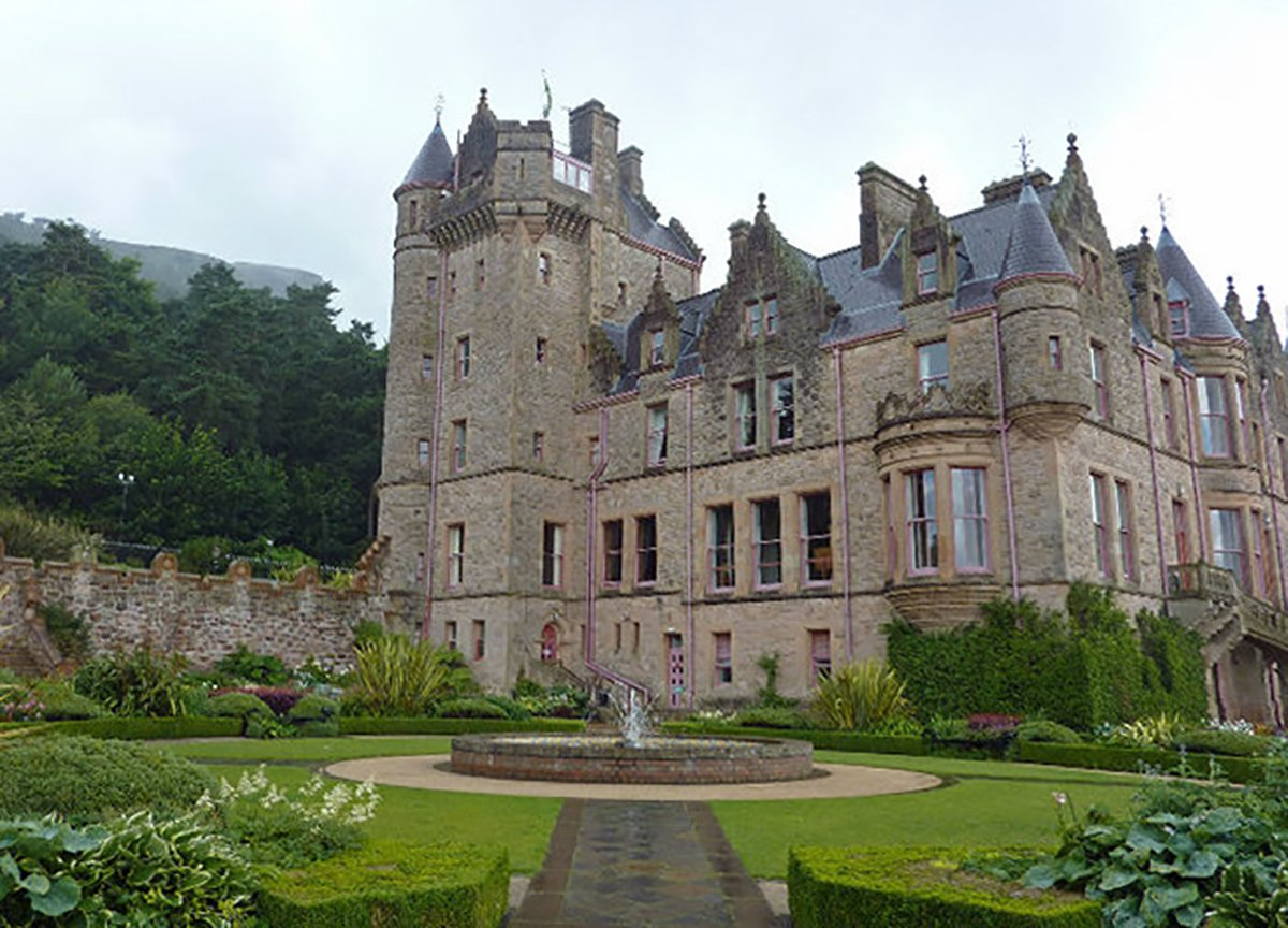 Gardens Surrounding Belfast Castle in Northern Ireland