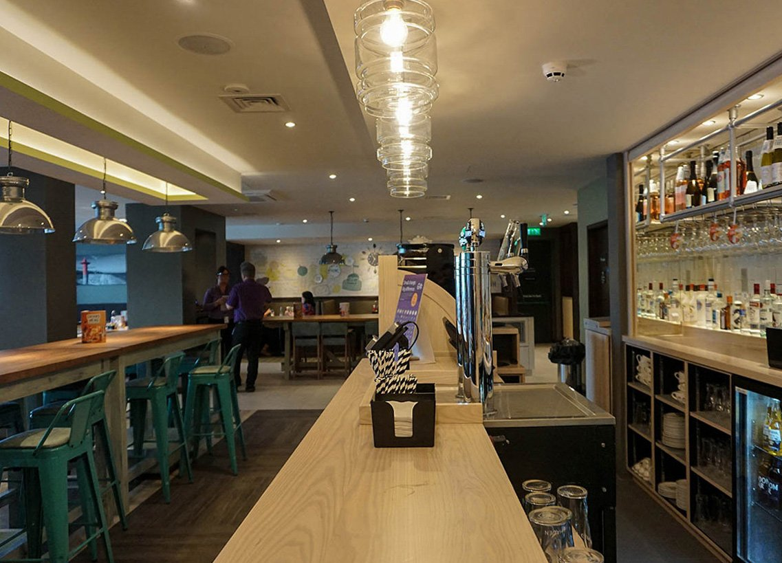 Drinks Bar at Premier Inn Bangor Northern Ireland Hotel