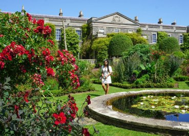 Formal Gardens at Mount Stewart Estate in Summer in Northern Ireland
